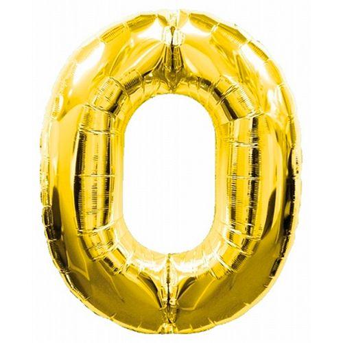 Шар (40''/102 см) Цифра, 0, Дизайн-шарики