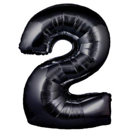 Воздушный шарик цифра 2