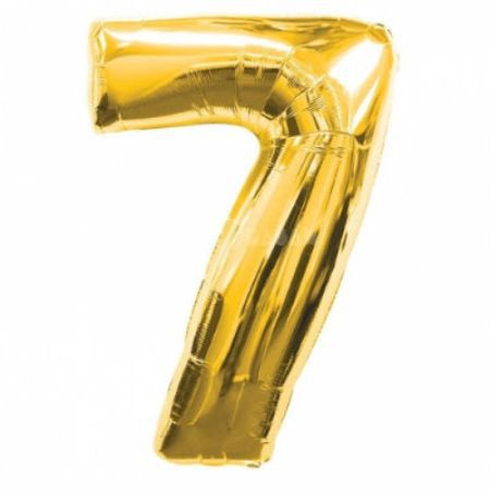Шар (40''/102 см) Цифра, 7, Золото