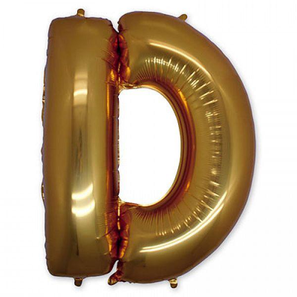 """Буква D 40"""" Gold"""