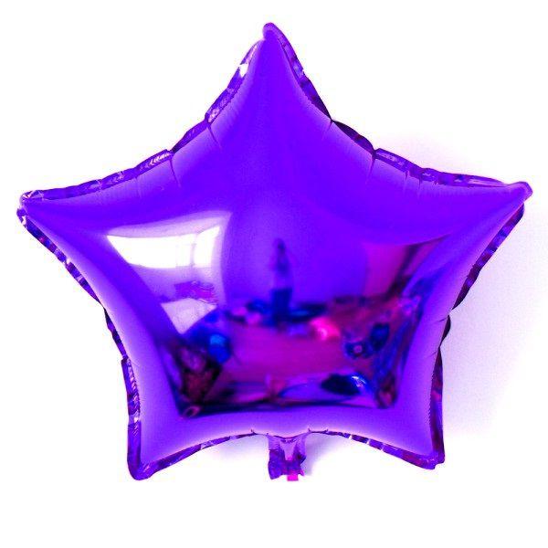 Шар (46 см) Звезда, Фиолетовый