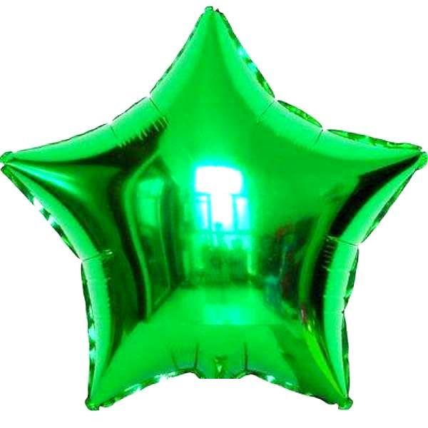 Шар (46 см) Звезда, Зеленый