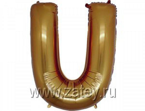 """БУКВА U 40"""" Gold"""