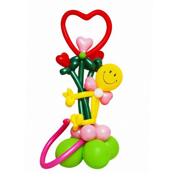 Букет цветов «Влюбленный смайлик»