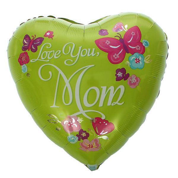 Шар (46 см) Сердце, HB Любимой Маме.