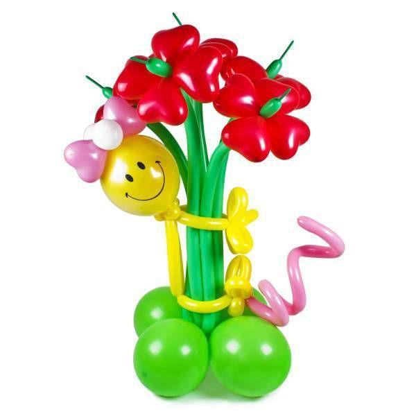 Букет цветов «Смайлик-Девочка»