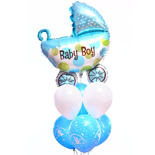 Букет из шаров «Колясочка для мальчика»