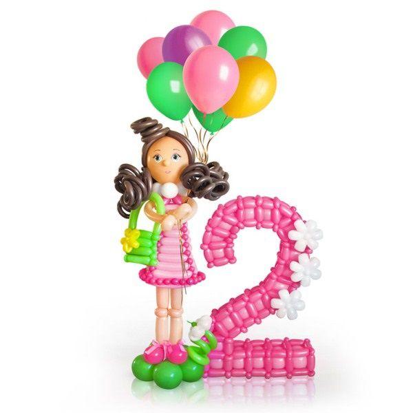Фигура из шаров «Девочка с шариками»