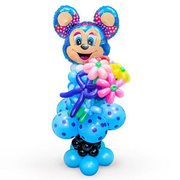 Фигура из шаров «Синяя мышка»