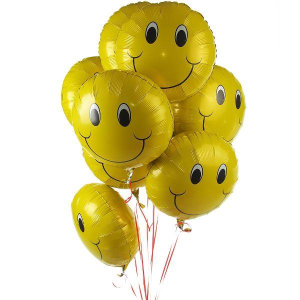 Облако из фольгированных шаров «Желтый смайл»