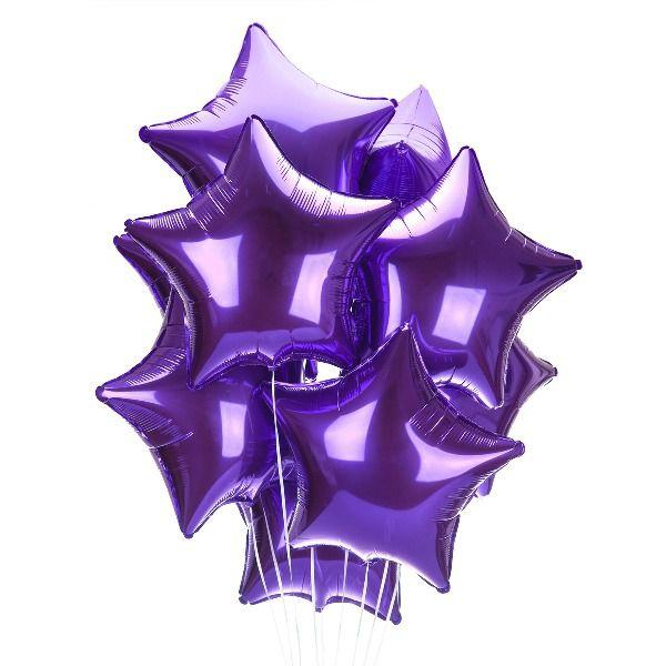 Облако из шаров «Фиолетовые звезды»