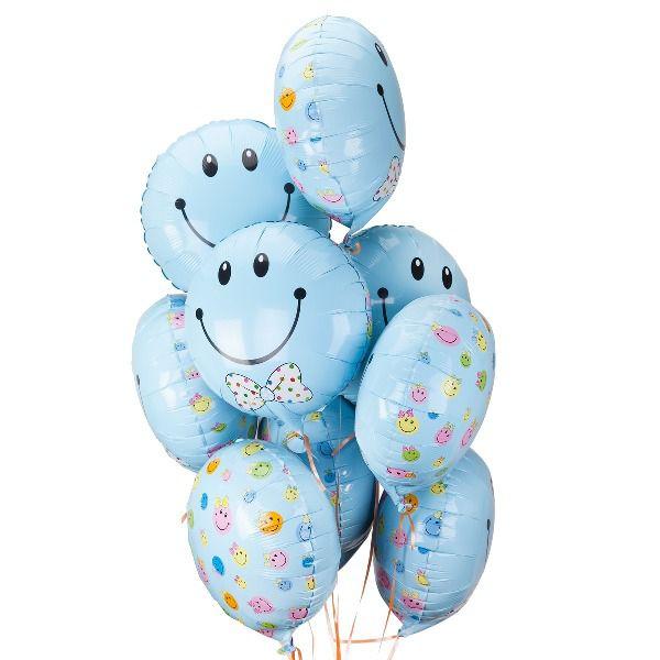 Облако из шаров «Смайл. Новорожденный мальчик».
