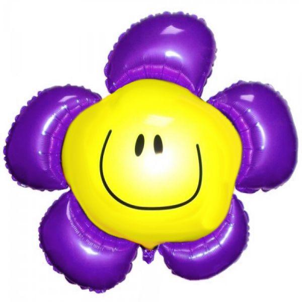 Шар (104 см) Фигура, Солнечная улыбка, Фиолетовый.