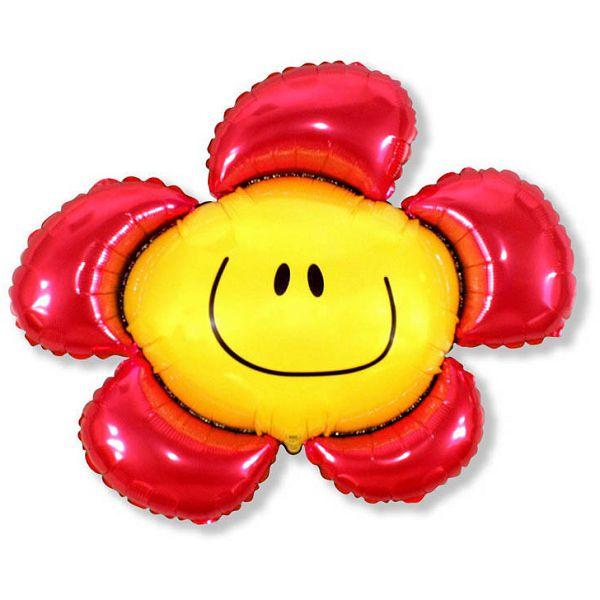 Шар (104 см) Фигура, Солнечная улыбка, Красный.