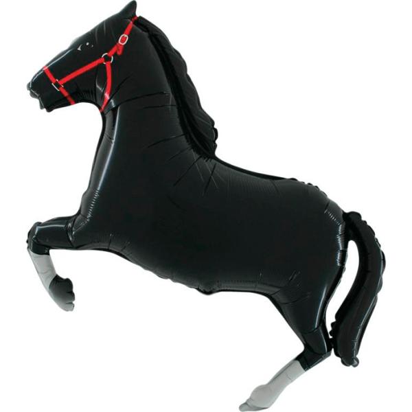 Шар (107 см) Фигура, Лошадь, Черный.