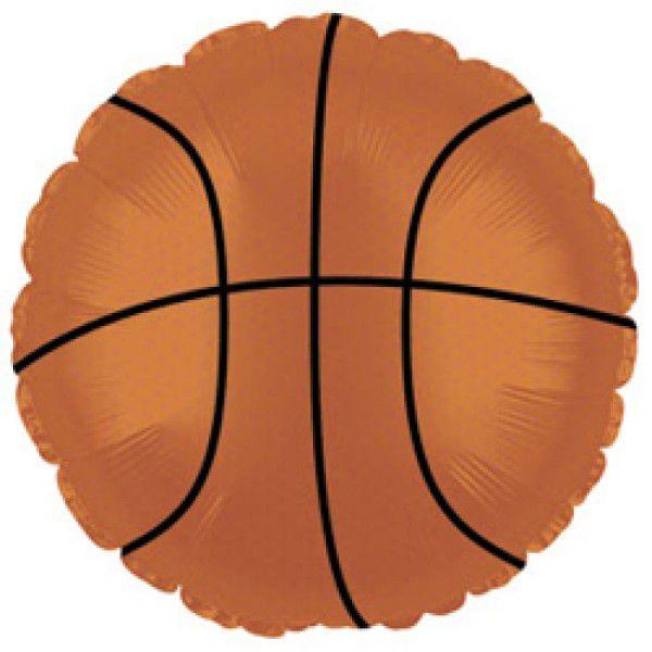 Шар (46 см) Круг, Баскетбольный мяч, Коричневый.