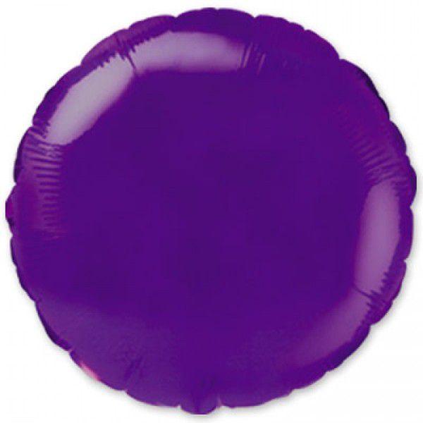 Шар (46 см) Круг, Фиолетовый