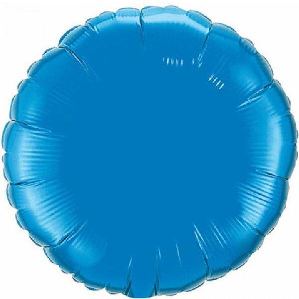 Шар (46 см) Круг, Синий