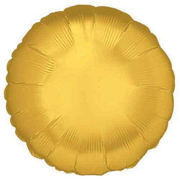 Шар (46 см) Круг, Золото