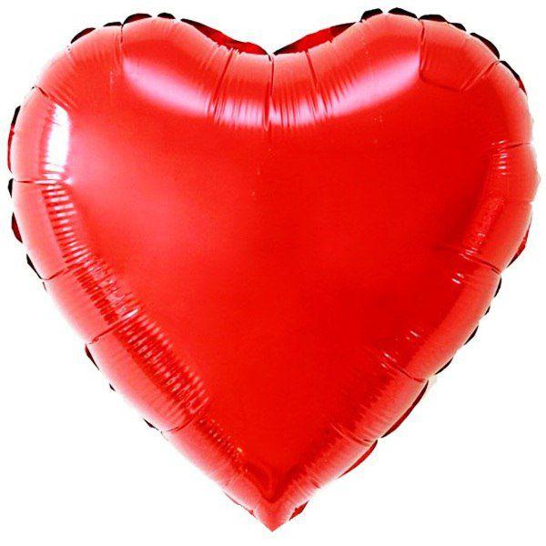 Шар (46 см) Сердце, Красный