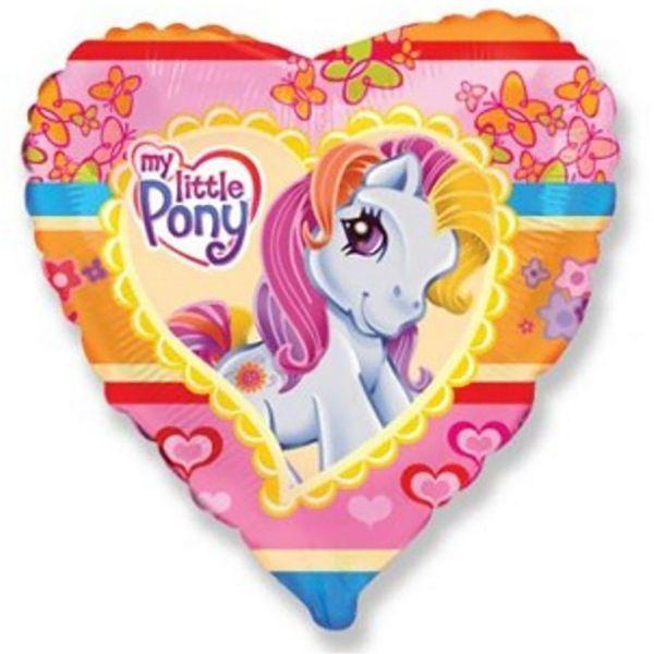 Шар (46 см) Сердце, Моя маленькая пони.