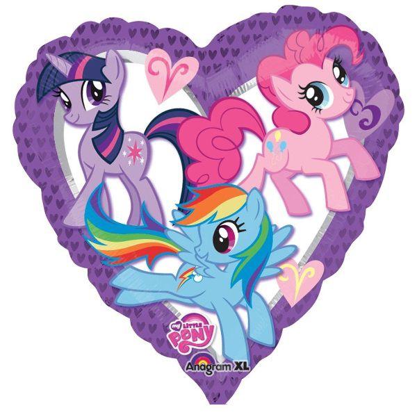 Шар (46 см) Сердце, My Little Pony.