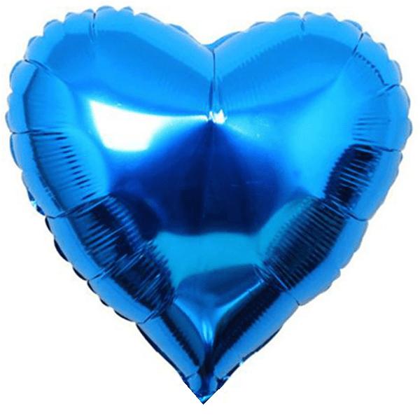Шар (46 см) Сердце, Синий