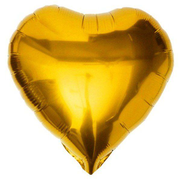 Шар (46 см) Сердце, Золото