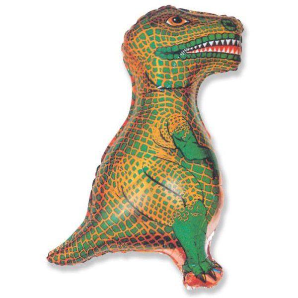 Шар (79 см) Фигура, Динозавр, Зеленый.