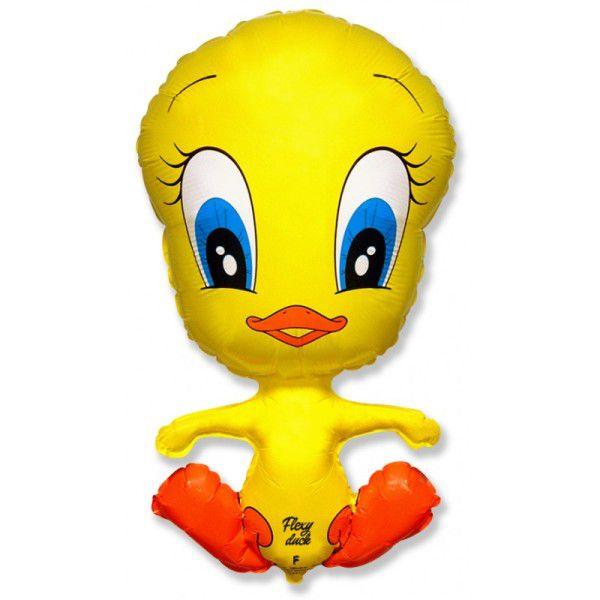 Шар (79 см) Фигура, Утенок, Желтый.