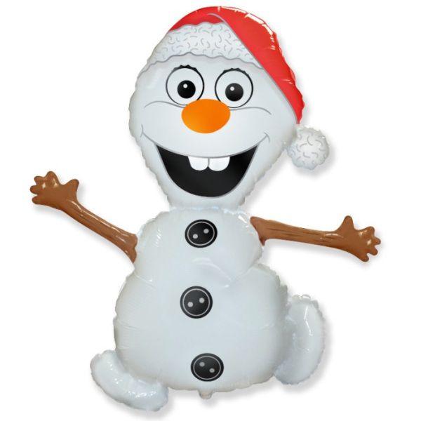 Шар (81 см) Фигура, Снеговик.