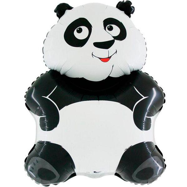 Шар (84 см) Фигура, Большая панда, Белый.
