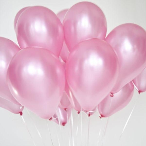 Шары под потолок Розовый металлик