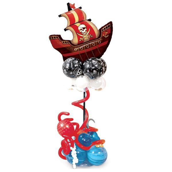 Столбик из шаров «Пиратский фрегат»