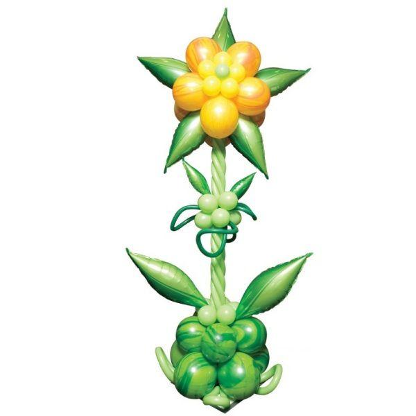 Столбик из шаров «Желтый цветок»