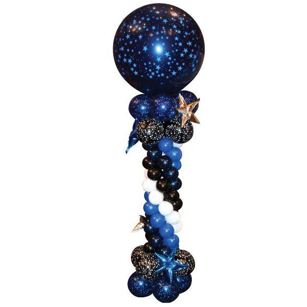 Столбик из шаров «Звездная ночь»