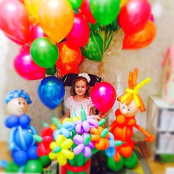 Оформление шарами детского праздника. Компания http://onballoon.ru/