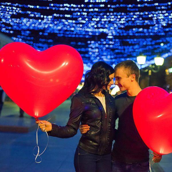 Светящиеся шары сердца