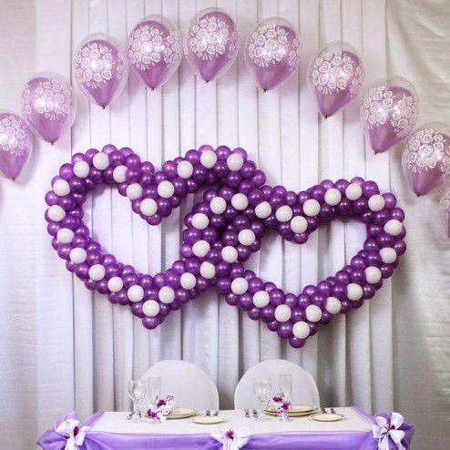 сердца из воздушных шаров на свадьбу