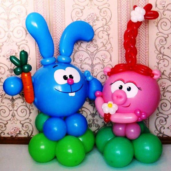 Смешарики из воздушных шаров