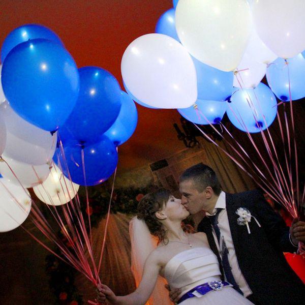 светящиеся воздушные шары на свадьбу