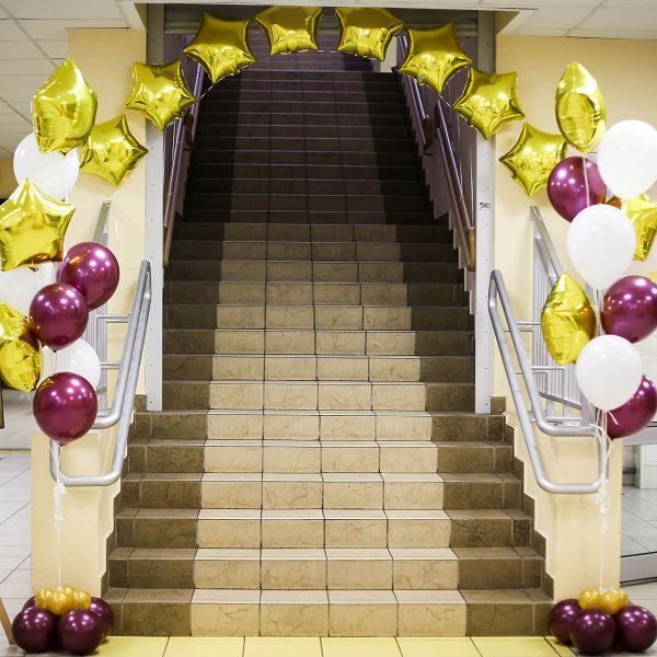 Оформление шарами выпускного http://onballoon.ru/