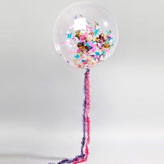 Большой розовый металлик воздушный шар. Компания onballoon.ru