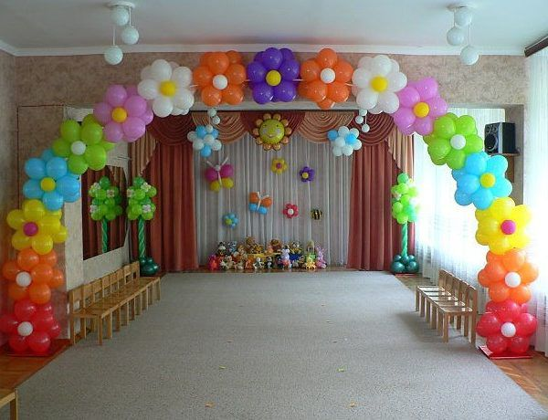 Оформление воздушными шарами выпускного в детском саду компания onballoon.ru