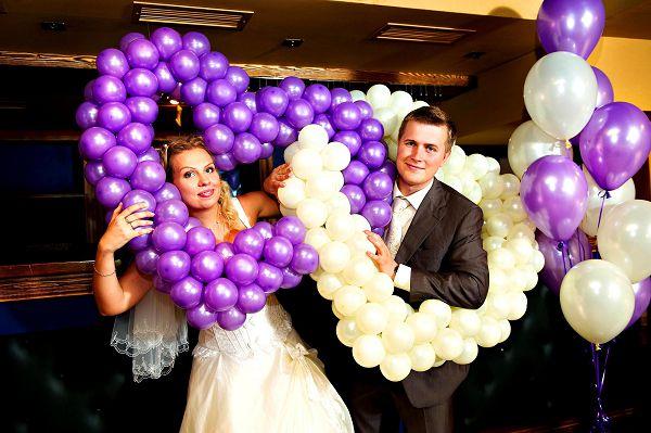 Поздравления на свадьбу с воздушными шарами
