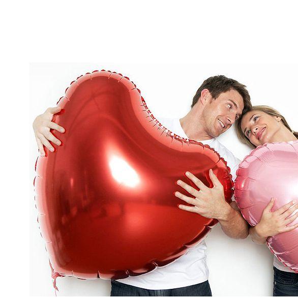 Большое фольгированное сердце шар