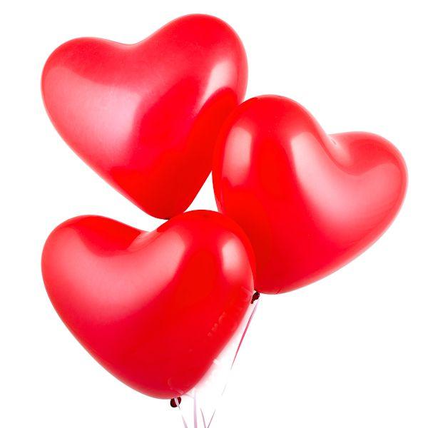 Сердца латексные разноцветные, 1 шт, (40 см)