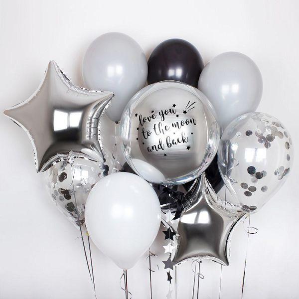 Шары с индивидуальной надписью. Букет из шаров. http://onballoon.ru