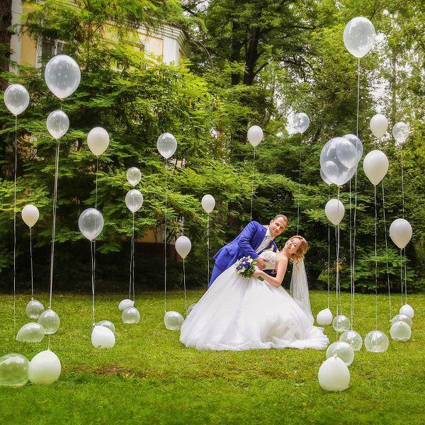 Запуск шаров на свадьбу4 www.onballoon.ru