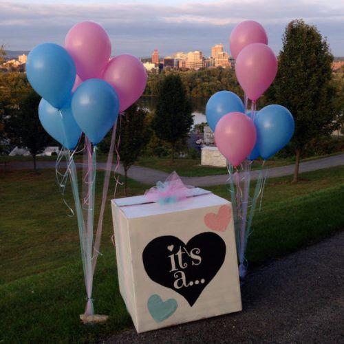 коробка с шарами мальчик или девочка , коробок сюрприз, коробка с сюрпризом, коробка с шарами, http://onballoon.ru